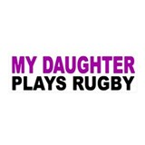 My daughter plays rugby! 20x6 Wall Peel