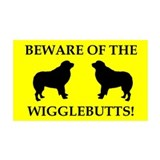 Wigglebutts Beware Sticker