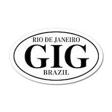 GIG Rio de Janeiro 35x21 Oval Wall Peel