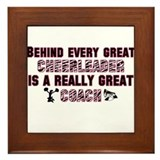 Great Cheer Coach - Pink Zebr Framed Tile