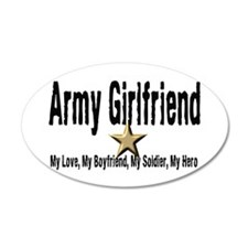 Army Girlfriend - My Hero 20x12 Oval Wall Peel