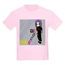 Punk Rock Girl Kids T-Shirt