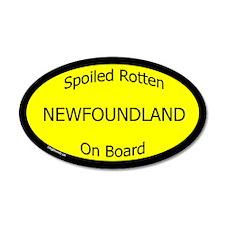 Spoiled Newfoundland On Board 20x12 Oval Wall Peel
