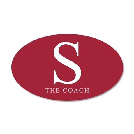 S The Coach 35x21 Oval Wall Peel