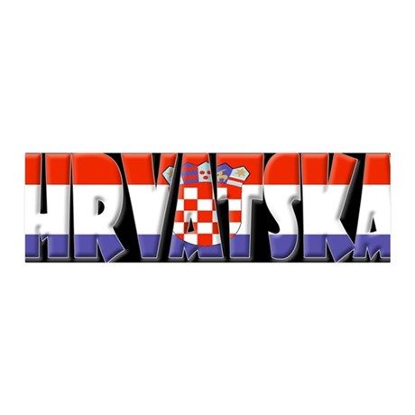 Word Art Flag of Hrvatska 36x11 Wall Peel