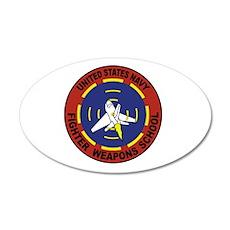 US Navy Fighter Weapon School 35x21 Oval Wall Peel
