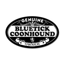 BLUETICK COONHOUND 20x12 Oval Wall Peel