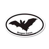 Oregon Caves Euro 20x12 Oval Wall Peel with Bat