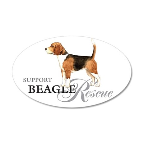 Beagle Rescue 35x21 Oval Wall Peel