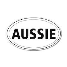Australian Shepherd 35x21 Oval Wall Peel