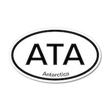 ATA Antarctica 20x12 Oval Wall Peel