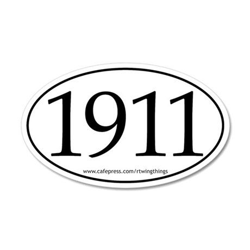1911 20x12 Oval Wall Peel