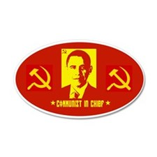 Anti Obama Communist 35x21 Oval Wall Peel