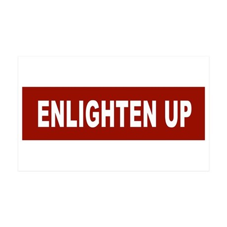 Enlghten Up - Red 35x21 Wall Peel