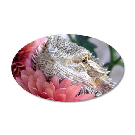 Bearded Dragon 003 20x12 Oval Wall Peel