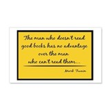 Twain Good Books--yellow 20x12 Wall Peel