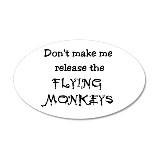 Flying Monkeys 20x12 Oval Wall Peel