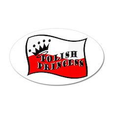 Polish Princess 20x12 Oval Wall Peel