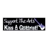 Kiss a Guitarist! 20x6 Wall Peel