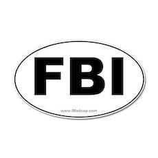 FBI Car 35x21 Oval Wall Peel