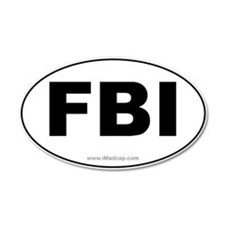 FBI Car 35x21 Oval Wall Peel