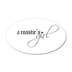 A Coastie's Girl 35x21 Oval Wall Peel