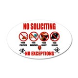 No Solicitors 20x12 Oval Wall Peel