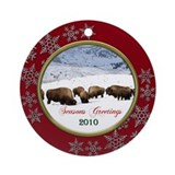 2010 Buffalo Christmas Ornament (Round)