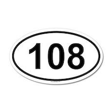 108 20x12 Oval Wall Peel