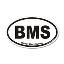 Bloody Mary Sunday BMS Euro 20x12 Oval Wall Peel