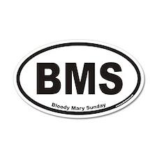 Bloody Mary Sunday BMS Euro 20x12 Oval Wall Peel