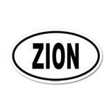 ZION 20x12 Oval Wall Peel
