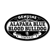 ALAPAHA BLUE BLOOD BULLDOG 20x12 Oval Wall Peel