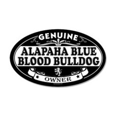 ALAPAHA BLUE BLOOD BULLDOG 20x12 Oval Wall Peel