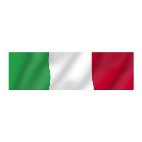 Pure Flag of Italy 20x6 Wall Peel