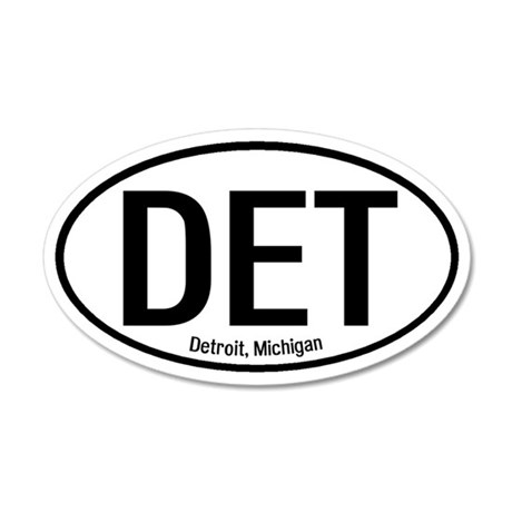 Detroit, Michigan 35x21 Oval Wall Peel