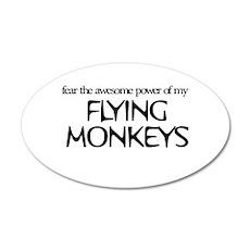 Flying Monkeys 35x21 Oval Wall Peel