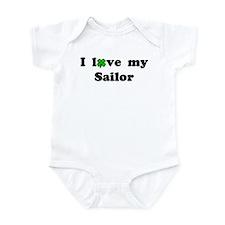 I love my Sailor Lucky Clover Infant Creeper