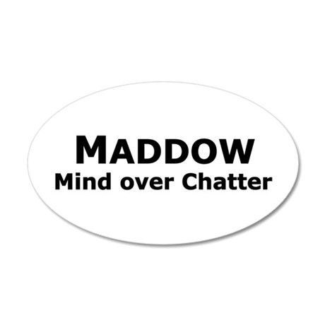 Maddow_Mind over Chatter 35x21 Oval Wall Peel