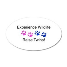 Experience Wildlife Raise Twi 35x21 Oval Wall Peel