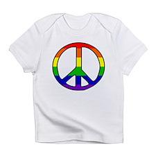 Rainbow Peace Sign Creeper Infant T-Shirt