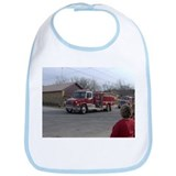 Cute Love firetrucks Bib