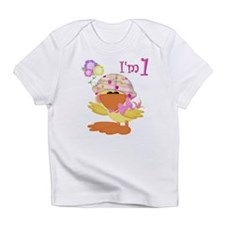 1st birthday baby girl duck Creeper Infant T-Shirt