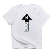 Archaeology north arrow Creeper Infant T-Shirt