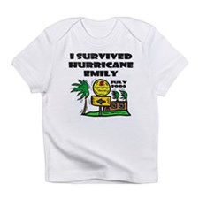 Survived Hurricane Emily Creeper Infant T-Shirt