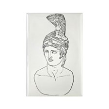 Bust of Ares Rectangle Magnet (10 pack)
