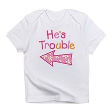 Cute Funny twins Infant T-Shirt