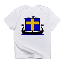 Swedish Flag Longship Creeper Infant T-Shirt