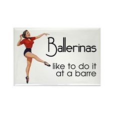 Funny Ballet Rectangle Magnet