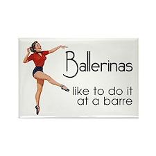 Funny Ballet Fridge Magnet